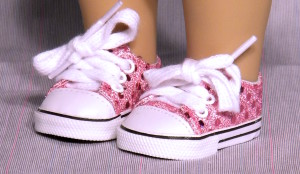 Pink Sequined Sneakers