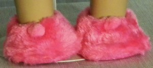 861H - Hot Pink Fuzzy Slippers