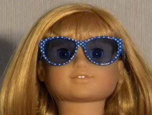 897 - Blue Dot Sunglasses