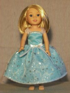365 - WW Aqua Princess Dress